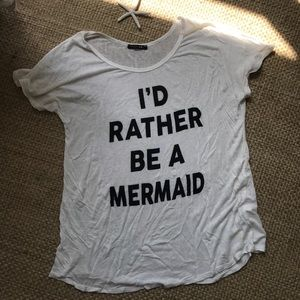 """Papermoon """"I'd rather be a mermaid"""" oversized tee"""